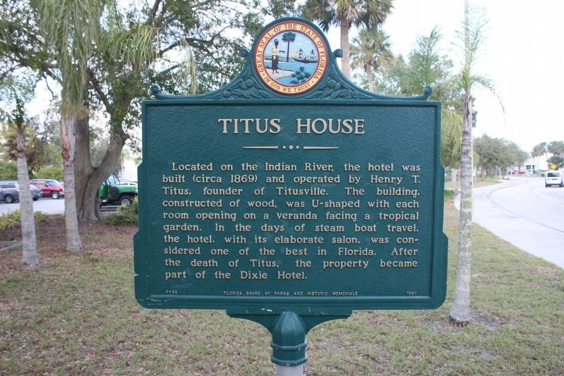 Titus House Marker image. Click for full size.