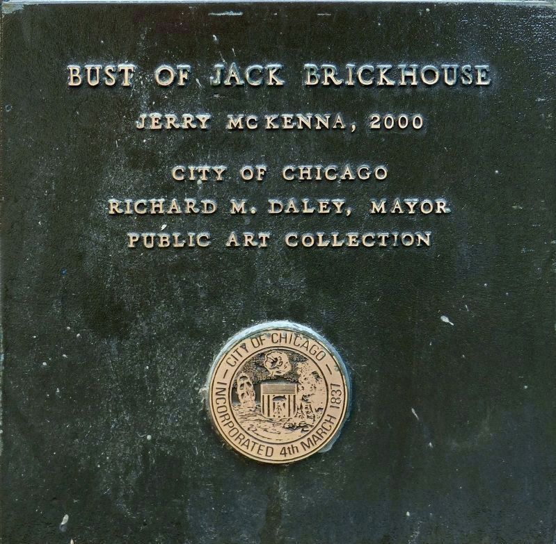 Bust of Jack Brickhouse image. Click for full size.