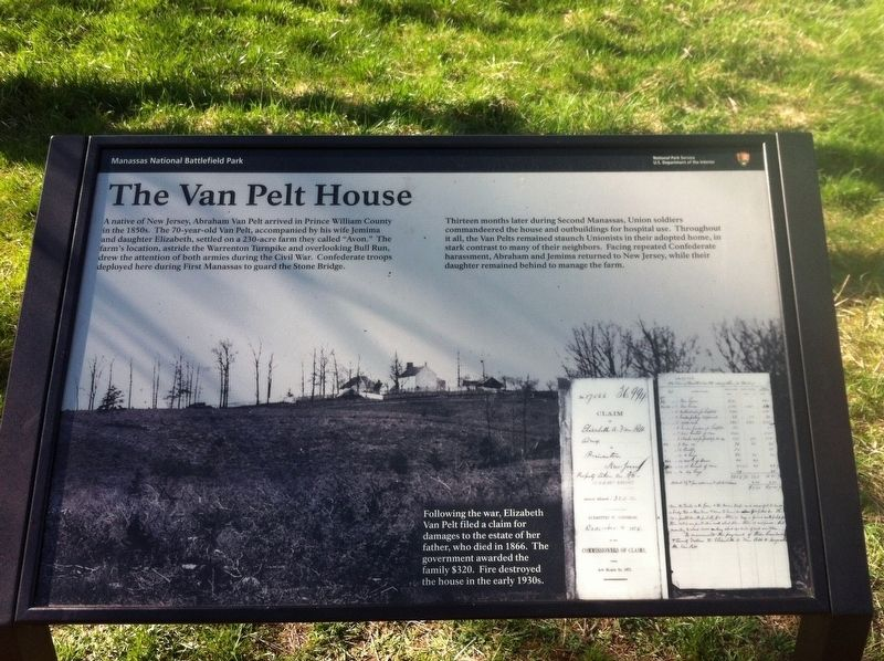 The Van Pelt House Marker image. Click for full size.