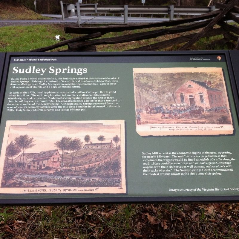 Sudley Springs Marker image. Click for full size.