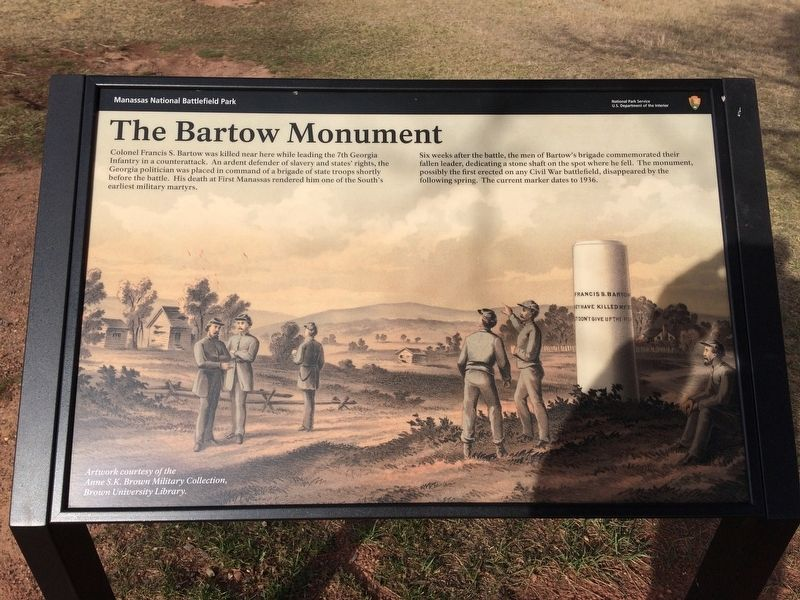 The Bartow Monument Marker image. Click for full size.