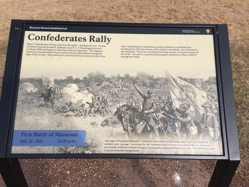 Confederates Rally Marker image. Click for full size.