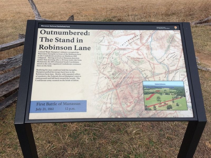 Outnumbered: The Stand in Robinson Lane Marker image. Click for full size.