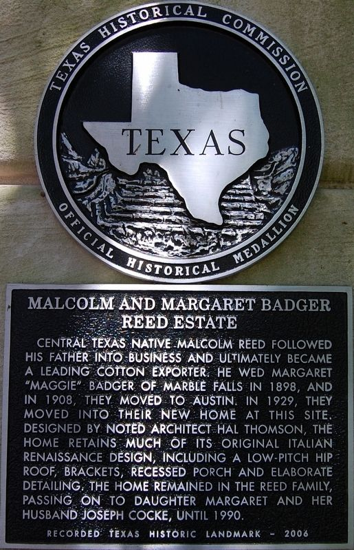 Malcolm and Margaret Badger Reed Estate Marker image. Click for full size.