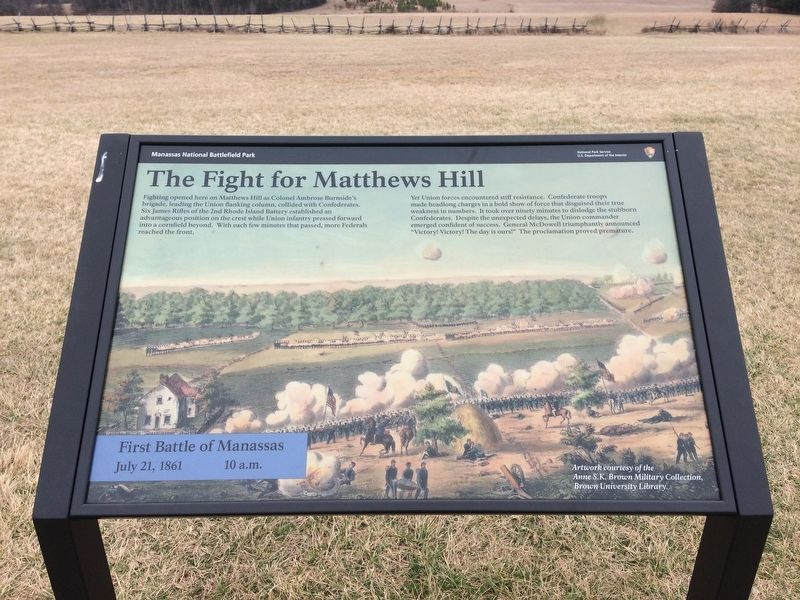 The Fight for Matthews Hill Marker image. Click for full size.