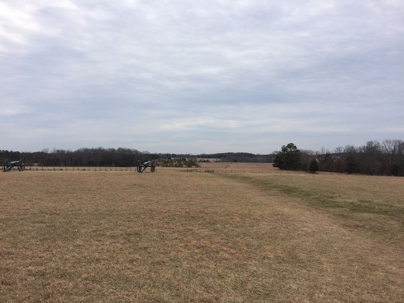 View of the Union Artillery Line on Matthews Hill image. Click for full size.