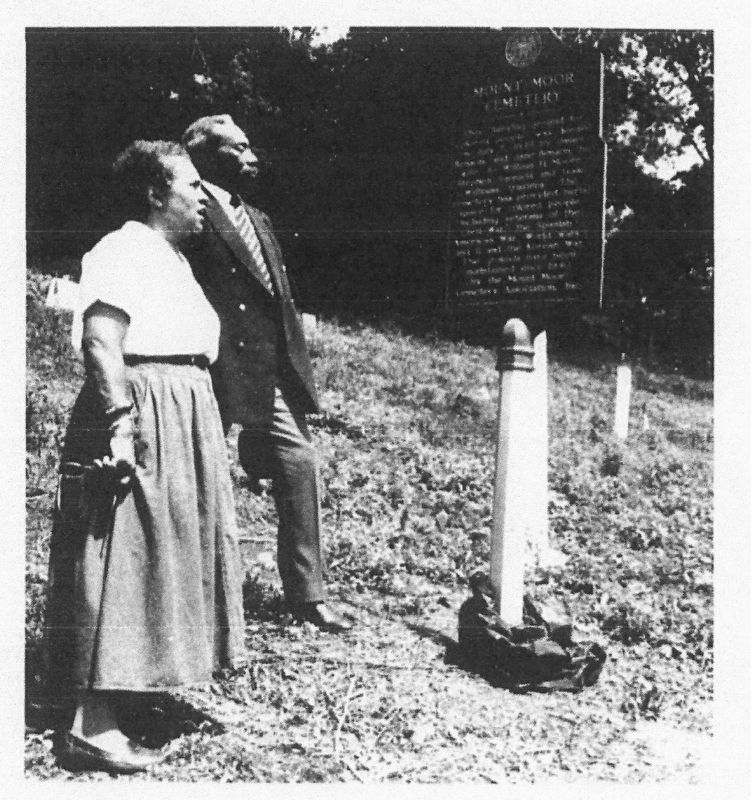 Mount Moor Cemetery Marker image. Click for full size.