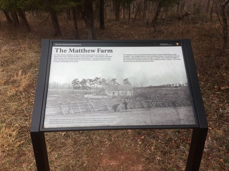 The Matthew Farm Marker image. Click for full size.