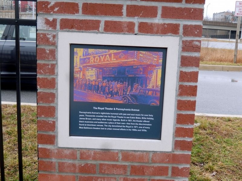 The Royal Theater & Pennsylvania Avenue Marker image. Click for full size.