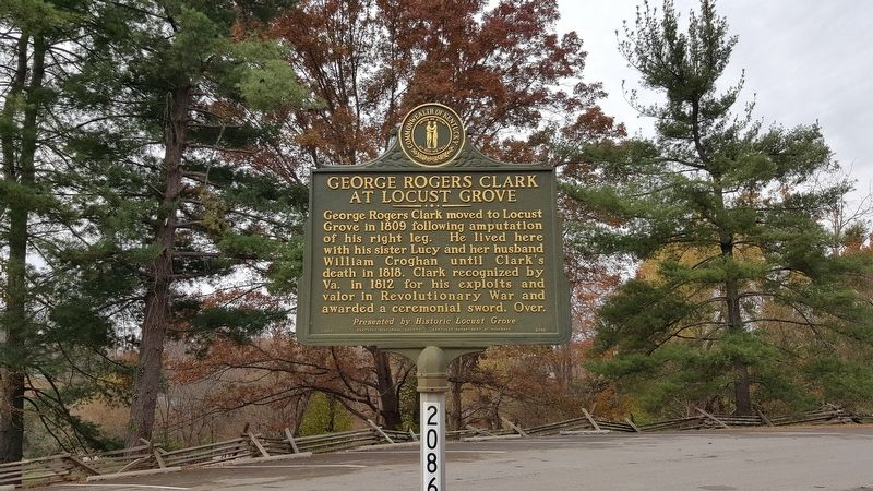 George Rogers Clark At Locust Grove Marker image. Click for full size.