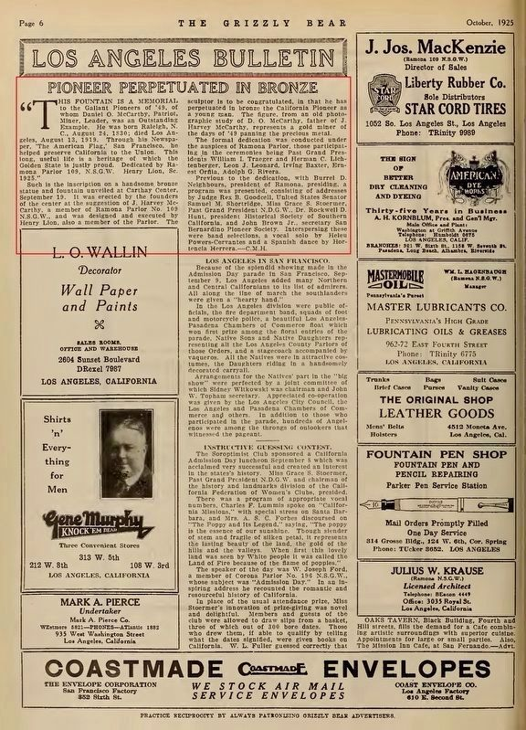 The Grizzly Bear, October 1925, p.6 image. Click for full size.