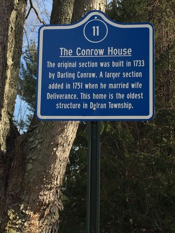 The Conrow House Marker image. Click for full size.