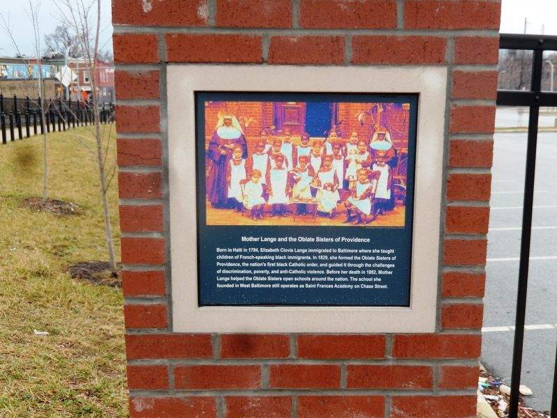 Mother Lange and the Oblate Sisters of Providence Marker image. Click for full size.