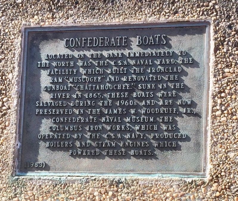 Confederate Boats Marker image. Click for full size.