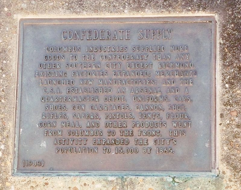 Confederate Supply Marker image. Click for full size.