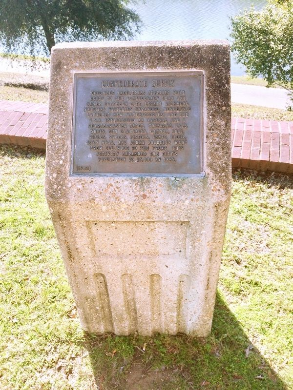 Confederate Supply Marker and stone. image. Click for full size.