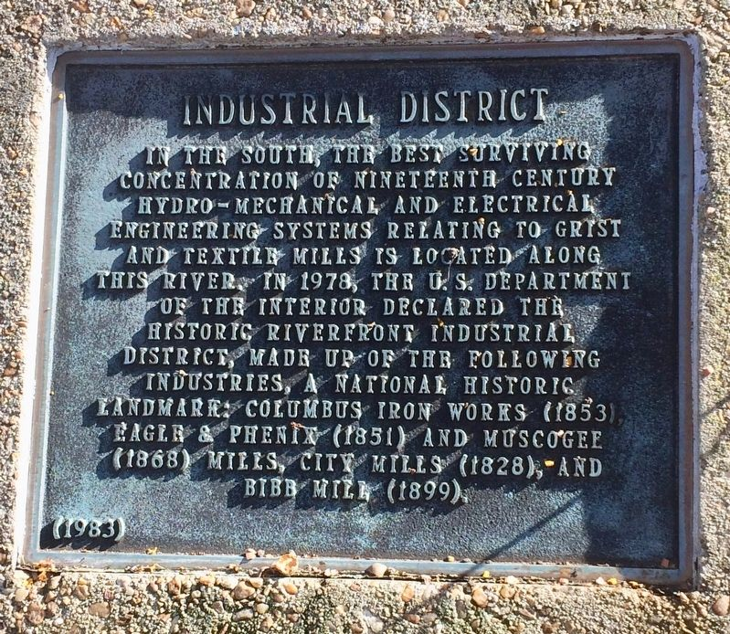 Industrial District Marker image. Click for full size.