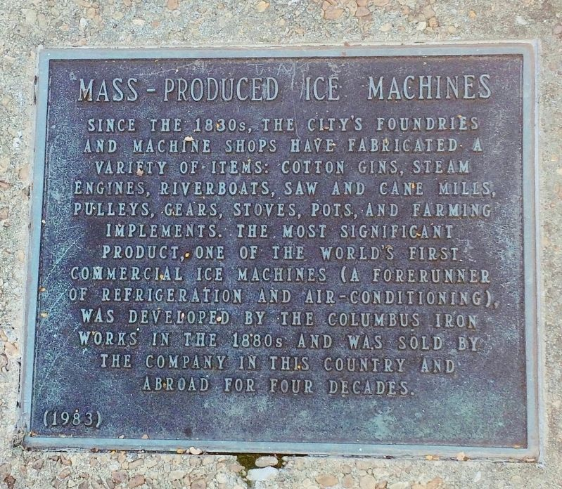 Mass - Produced Ice Machines Marker image. Click for full size.