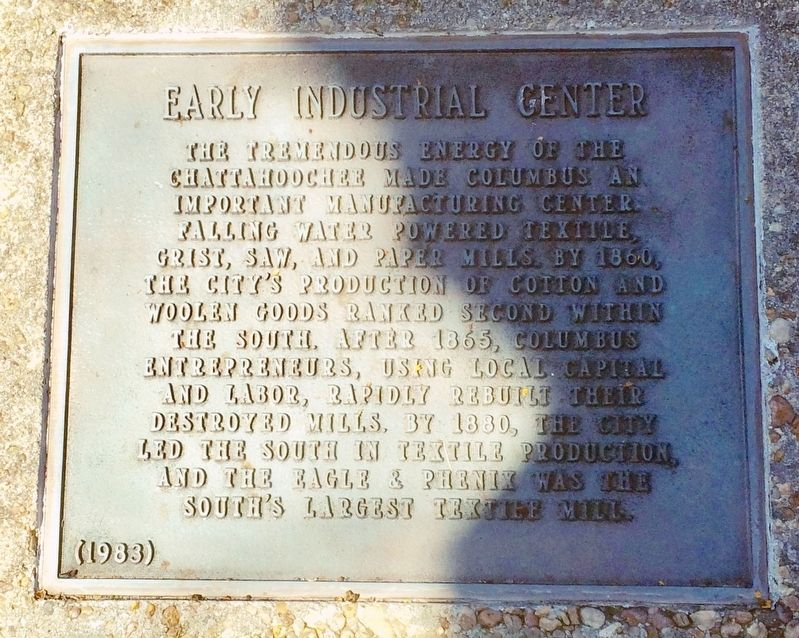 Early Industrial Center Marker image. Click for full size.