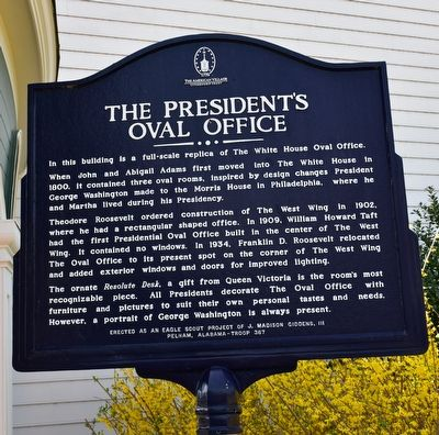 The President's Oval Office Marker image. Click for full size.