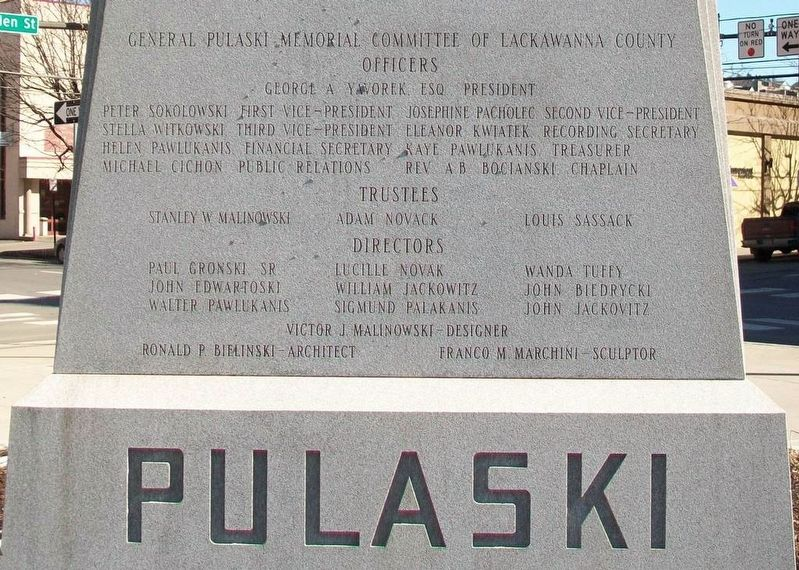 General Casimir Pulaski Marker (rear) image. Click for full size.