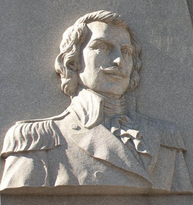 General Casimir Pulaski Relief on Monument image. Click for full size.