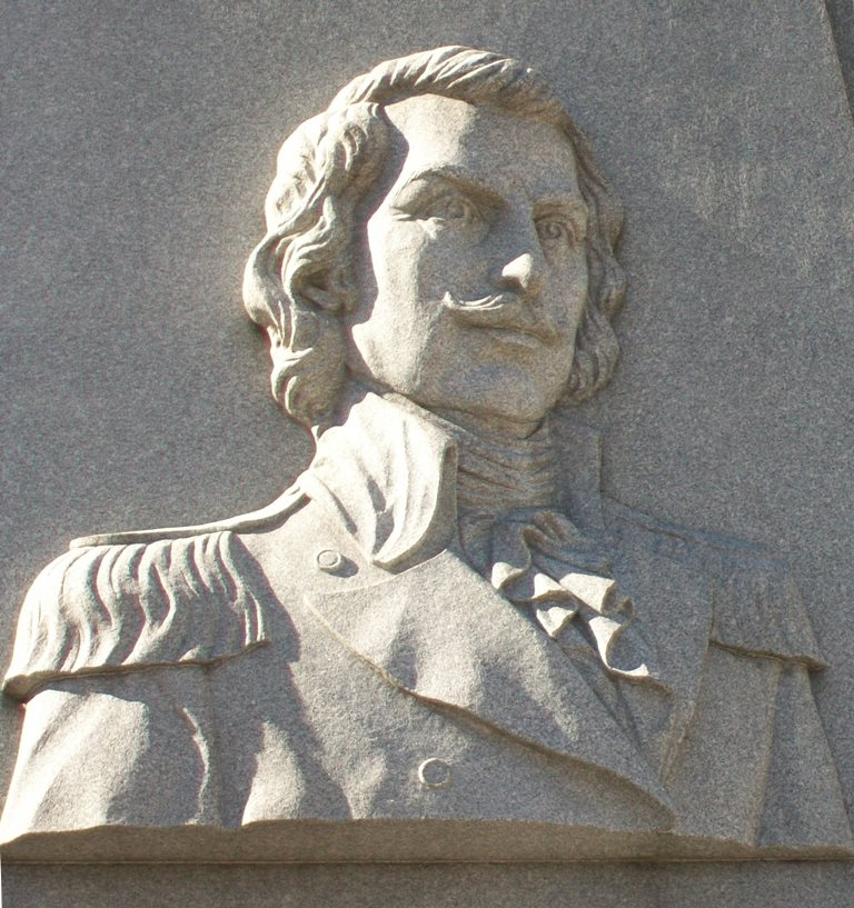 General Casimir Pulaski Relief on Monument