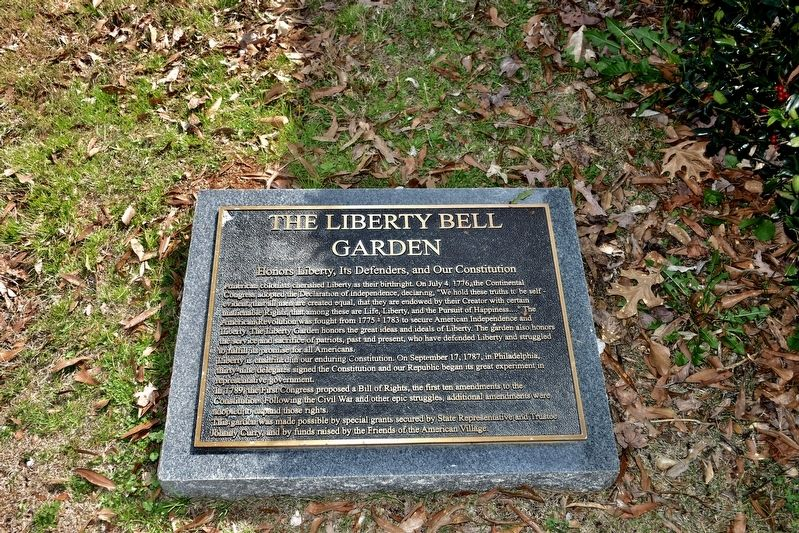 The Liberty Bell Garden Marker image. Click for full size.