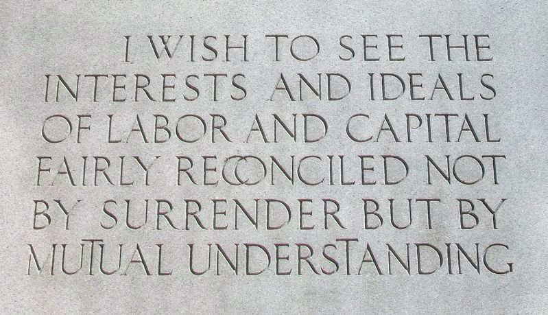 John Mitchell Quote on Monument image. Click for full size.