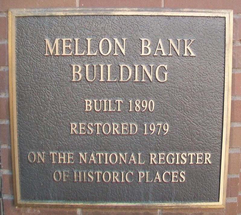 Mellon Bank Building NRHP Marker image. Click for full size.