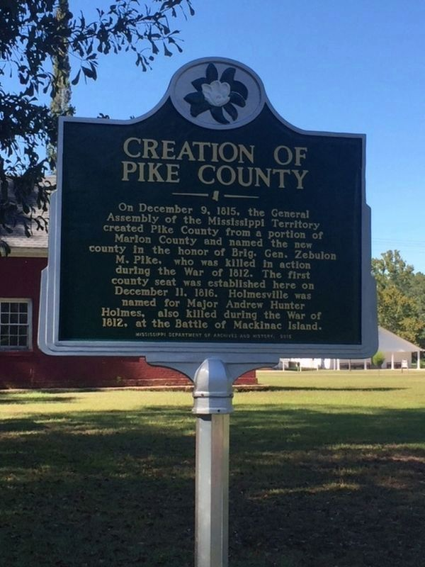 Creation of Pike County Marker image. Click for full size.