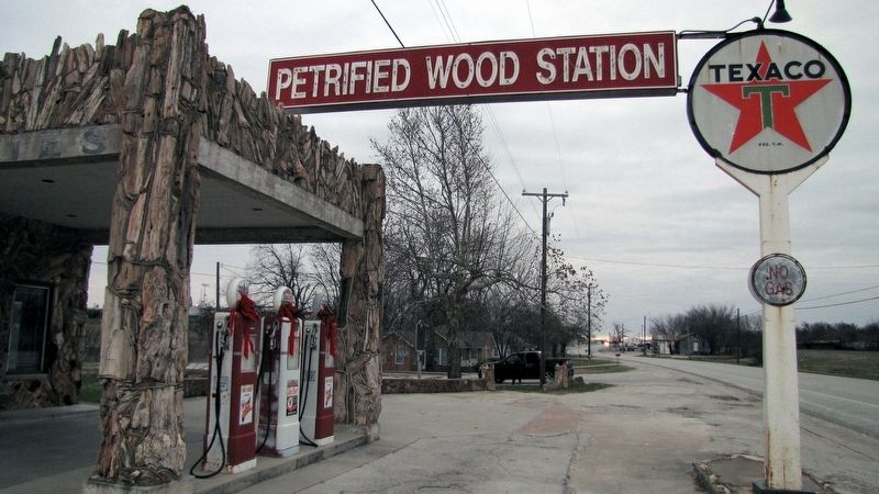 Texas Tourist Camp Complex Petrified Wood Station image. Click for full size.