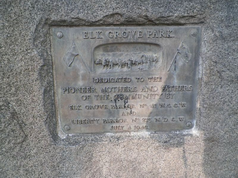 Elk Grove Park Marker image. Click for full size.