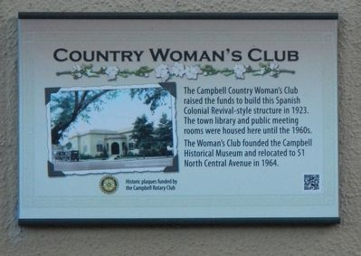 Country Woman's Club Marker image. Click for full size.