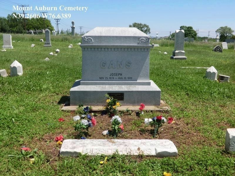 Joe Gans Grave Site image. Click for full size.
