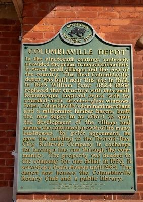 Columbiaville Depot Marker image. Click for full size.