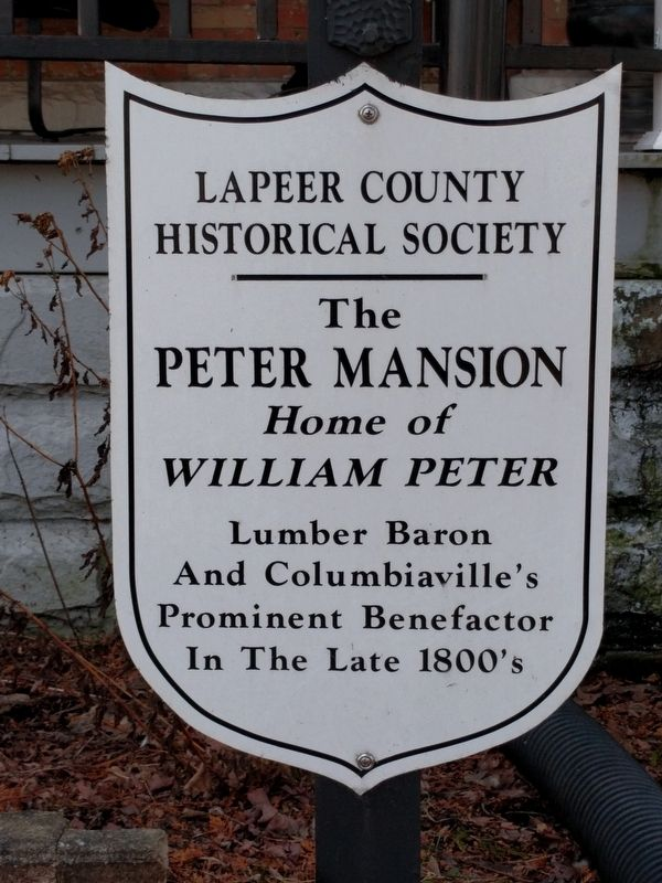 The William Peter Mansion Marker image. Click for full size.