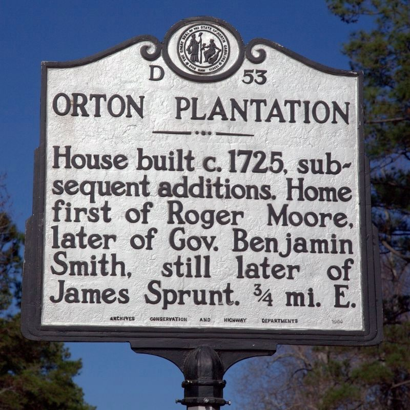 Orton Plantation Marker image. Click for full size.