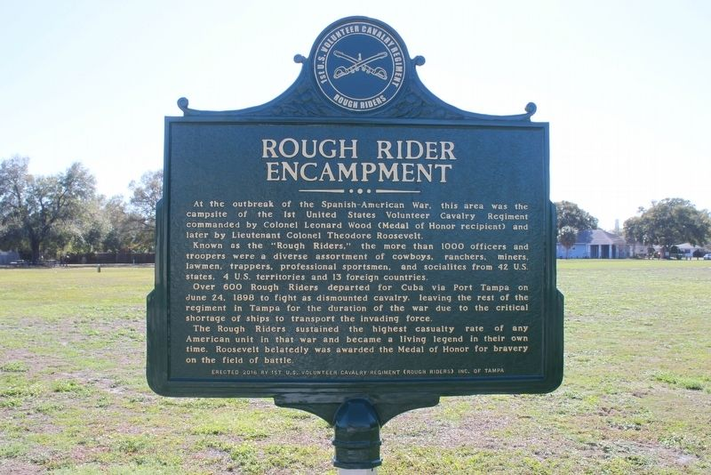 Rough Rider Encampment Marker-Side 1 image. Click for full size.