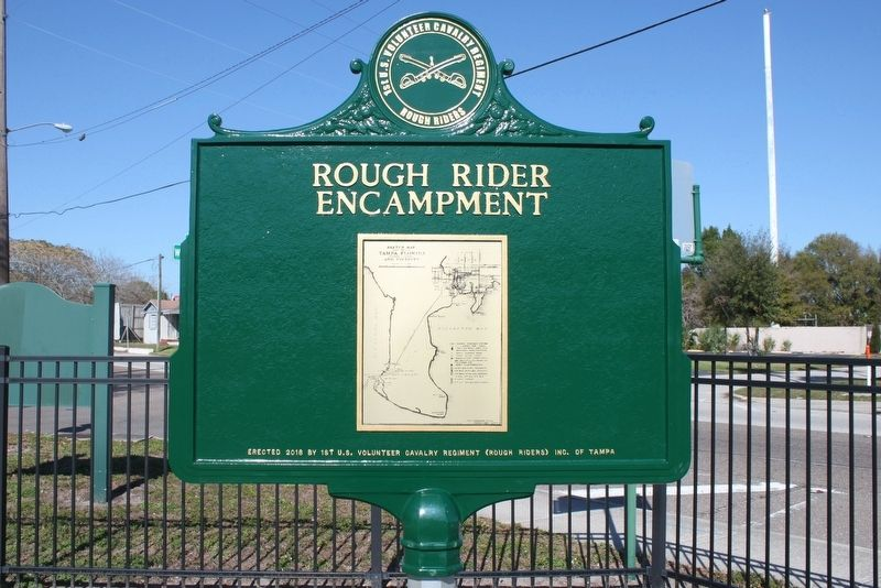 Rough Rider Encampment Marker-Side 2 image. Click for full size.