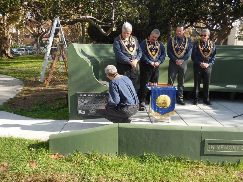 NSGW Dedication Ceremony - Sealing the Marker image. Click for full size.