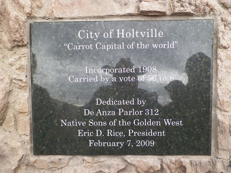 City of Holtville Marker image. Click for full size.