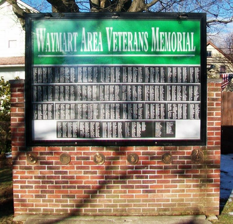 Waymart Area Veterans Memorial image. Click for full size.