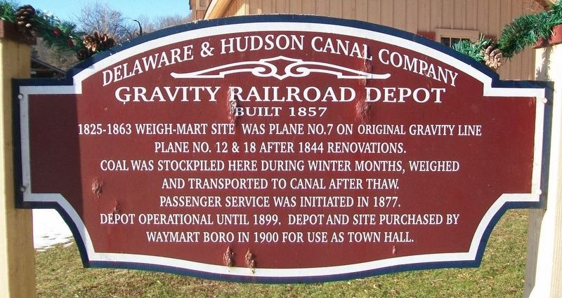 Gravity Railroad Depot Marker image. Click for full size.