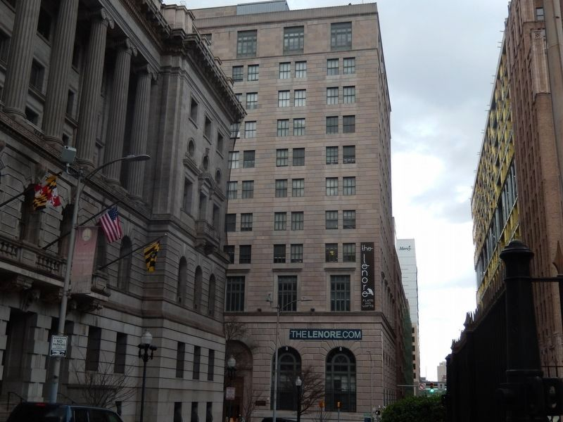 The Lenore Building next to the Baltimore Court House image. Click for full size.