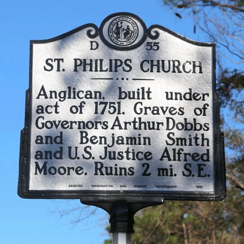 St. Philips Church Marker image. Click for full size.