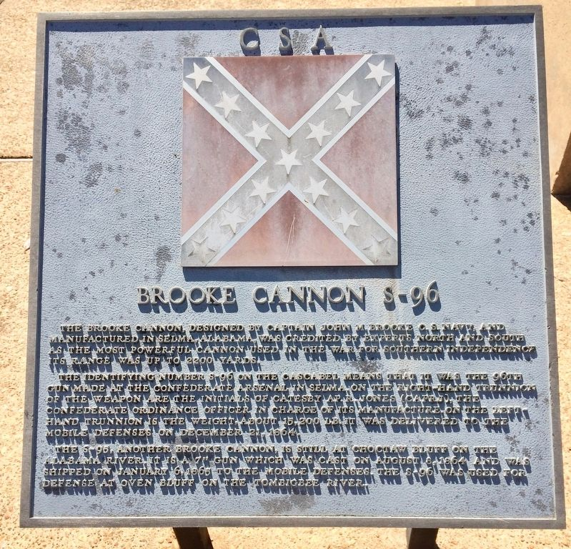 <big>C S A </big>Brooke Cannon S-96 Marker image. Click for full size.