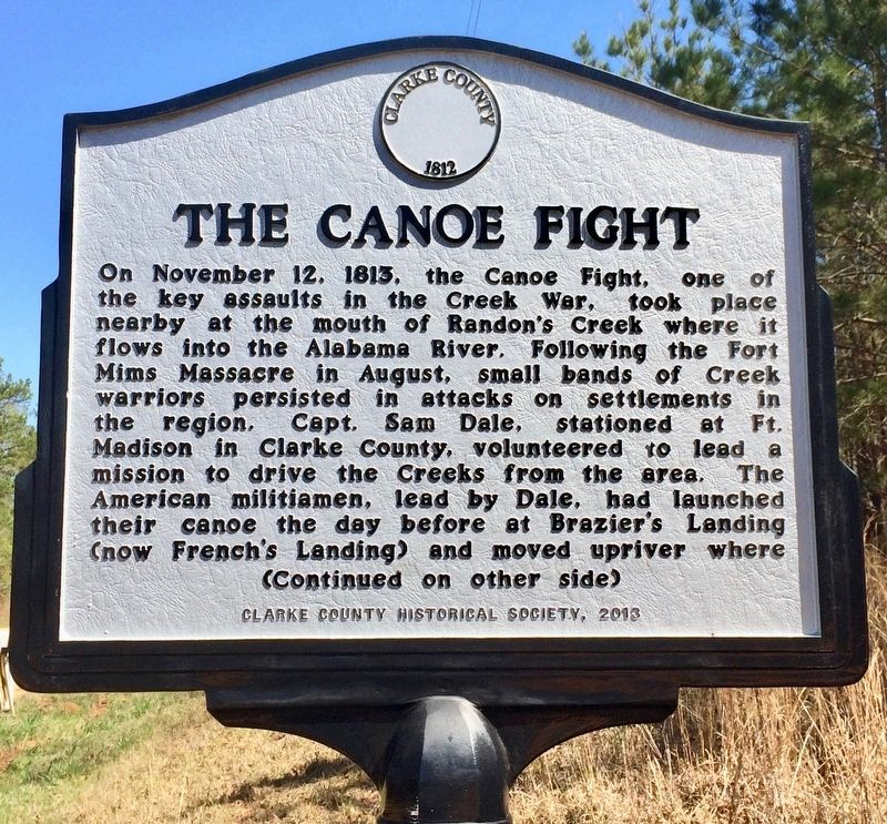 The Canoe Fight Marker (Side 1) image. Click for full size.