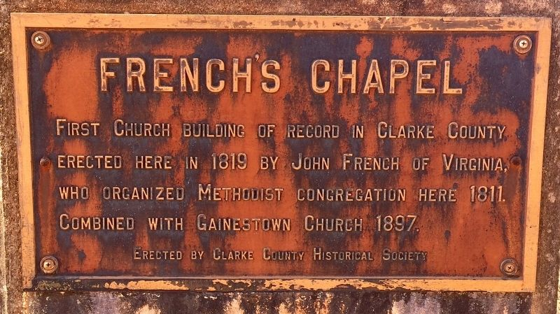 French's Chapel Marker image. Click for full size.