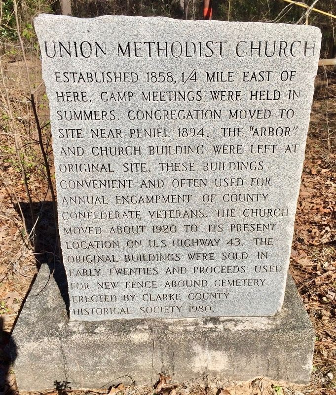 Union Methodist Church Marker image. Click for full size.